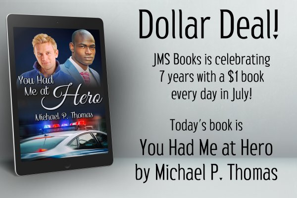 You Had Me at Hero by Michael P. Thomas is $1 today only!